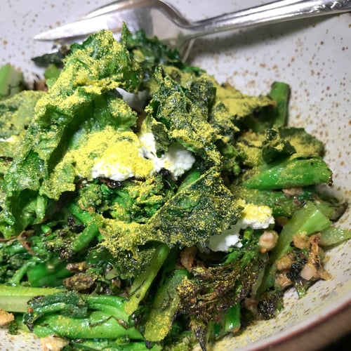 Broccoli Salad With Puffed Grains and Ricotta