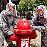 Shannon spotted a couple of Wilfred wannabes hanging out in the Gaslamp district.