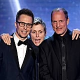 Pictured: Sam Rockwell, Frances McDormand, and Woody Harrelson