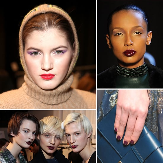 Purple Makeup and Nail Trend For Fall 2012