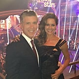 Brooke Burke posed with Tom Bergeron on the set of Dancing With the Stars. Source: Instagram user thebrookeburke