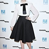 Elle Fanning showed off her stylish ensemble.