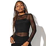Vylette Mesh Long Sleeve Top