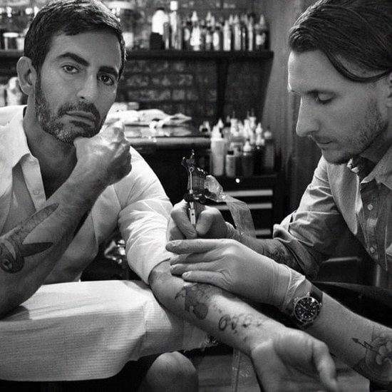 Pain is beauty. Marc Jacobs got another tattoo.