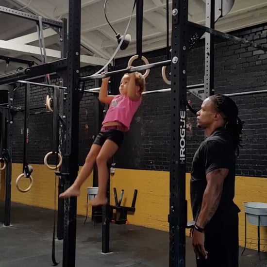 4-Year-Old Gymnast Doing Pull-Ups