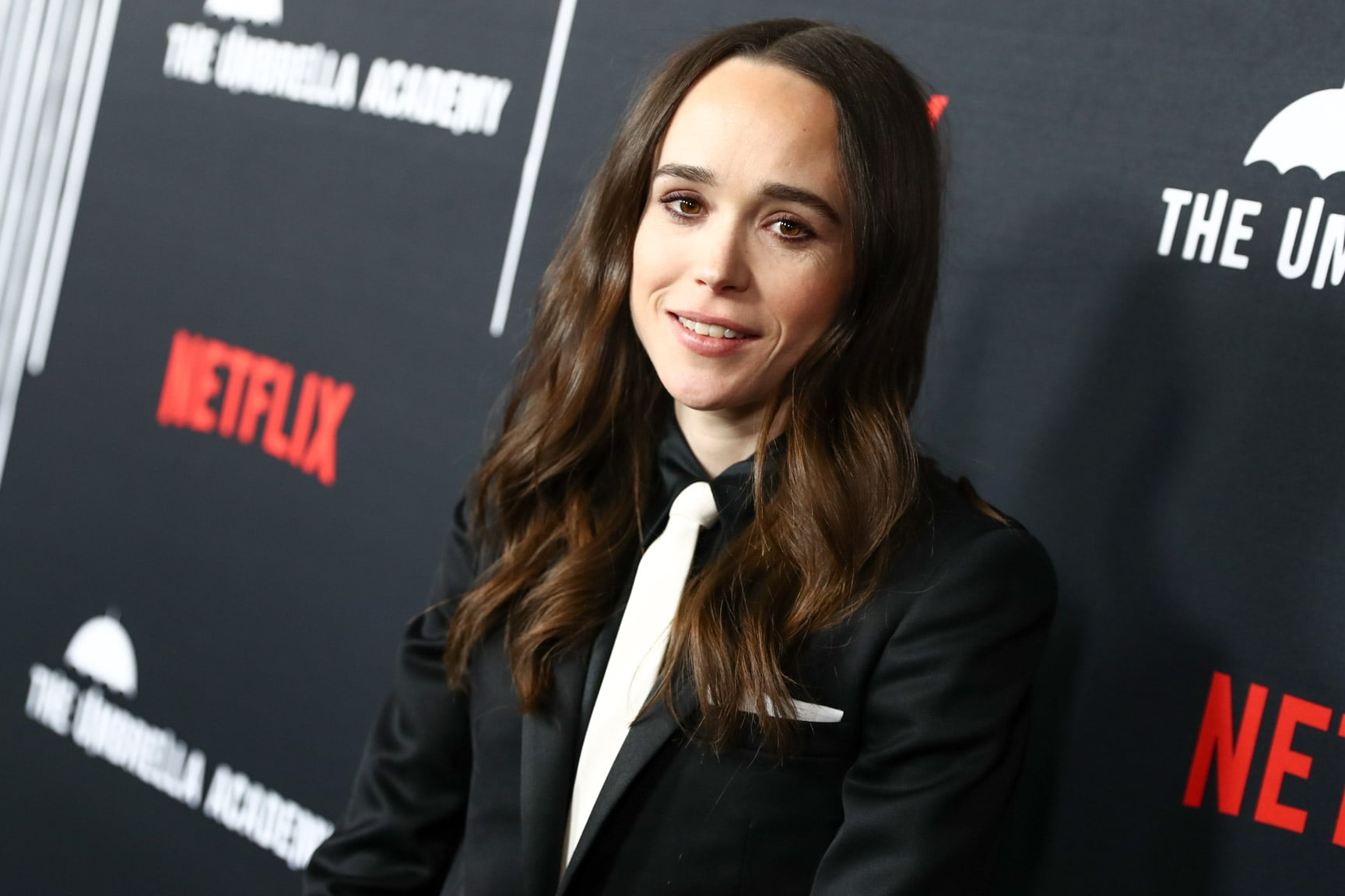 HOLLYWOOD, CALIFORNIA - FEBRUARY 12: Ellen Page attends the premiere of Netflix's