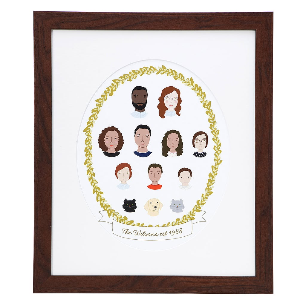 Personalized Family Cameo Portrait