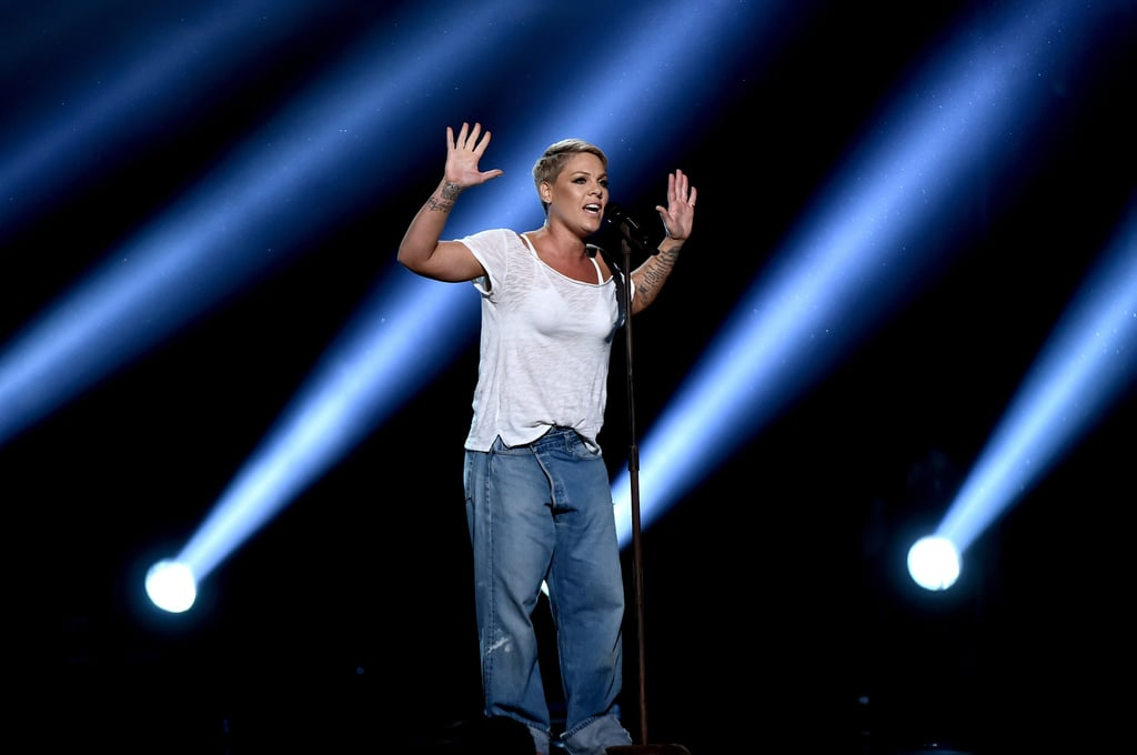 Pink's Jeans at the Grammys 2018