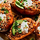 Smoky Lentil-Stuffed Sweet Potatoes