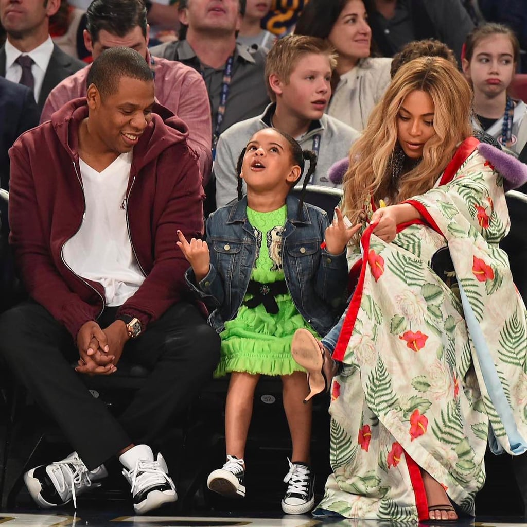 Blue Ivy Carter at the NBA All Star Game