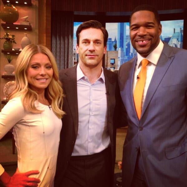 Jon Hamm stopped by Live with Kelly and Michael. Source: Twitter user espn