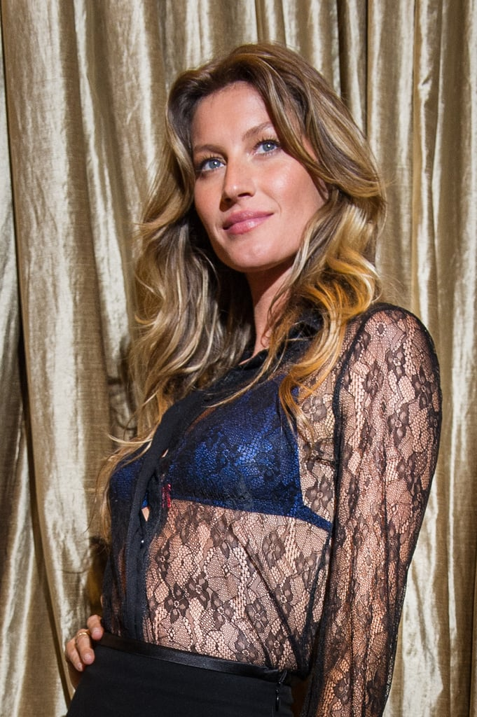 Gisele attended the opening of a Brazilian underwear boutique with her natural beach waves that every woman wants.