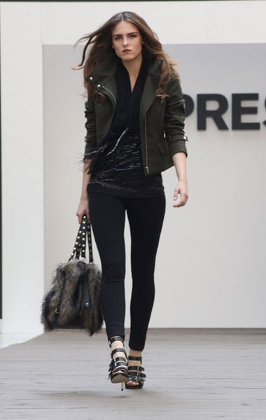 This is one slick military-inspired ensemble; that jacket is awesome.