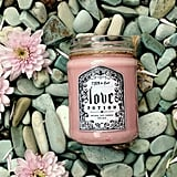 Love Potion candle ($15) with peony petal, vanilla bean, and wild rose notes