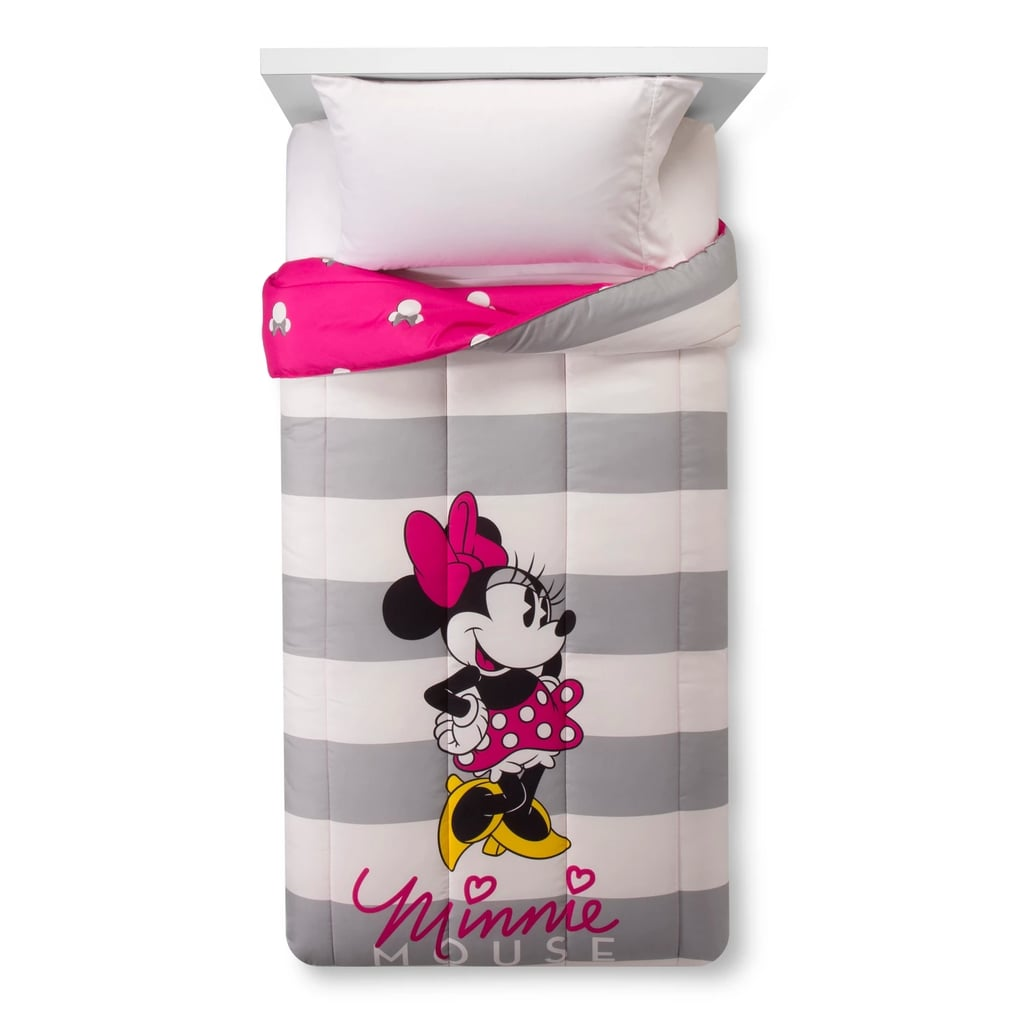 Disney Minnie Mouse Gray and White Comforter