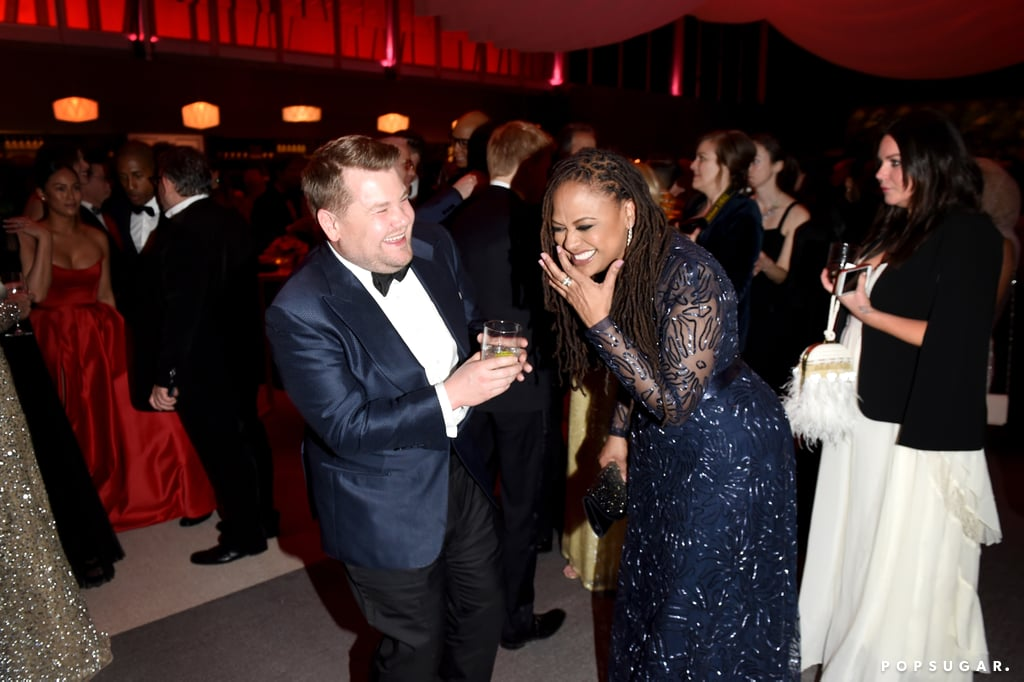 Pictured: James Corden and Ava DuVernay
