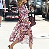 Olivia Wearing Her Dress on the Street