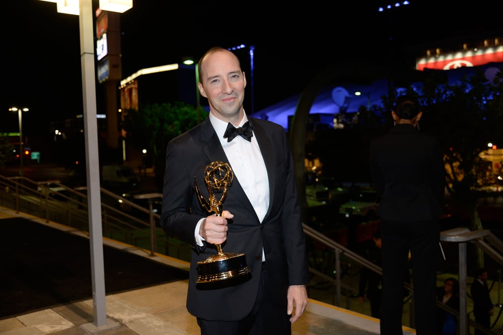 Tony Hale showed off his statue at the 2013 Emmys Governors Ball.