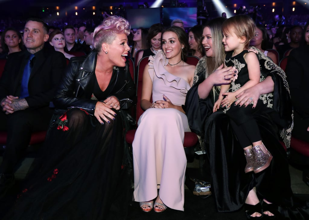 Pictured: Pink, Savannah Blackstock, Kelly Clarkson, and River Blackstock