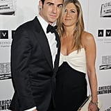 Jennifer Aniston wore loose hair and natural makeup for the event in LA.