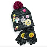 Emoji Knit Hat and Gloves Set