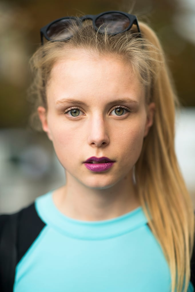 Try a punchier purple lipstick this Fall to break from the ordinary. Source: Le 21ème | Adam Katz Sinding