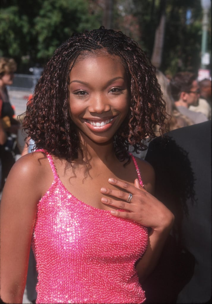 Brandy's Wavy Microbraid Bob at the Source Awards in 1999
