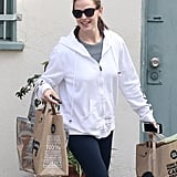 Jennifer Garner carried multiple bags from Whole Foods.