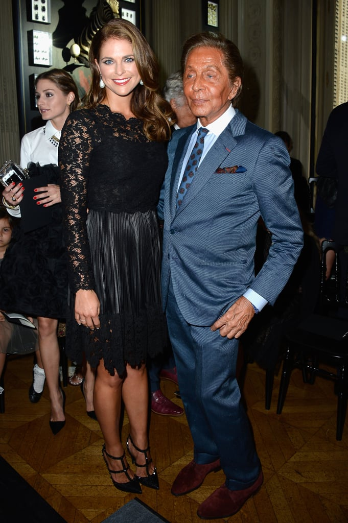 Valentino Garavani got the royal treatment from Princess Madeleine of Sweden at the Valentino Haue Couture show.