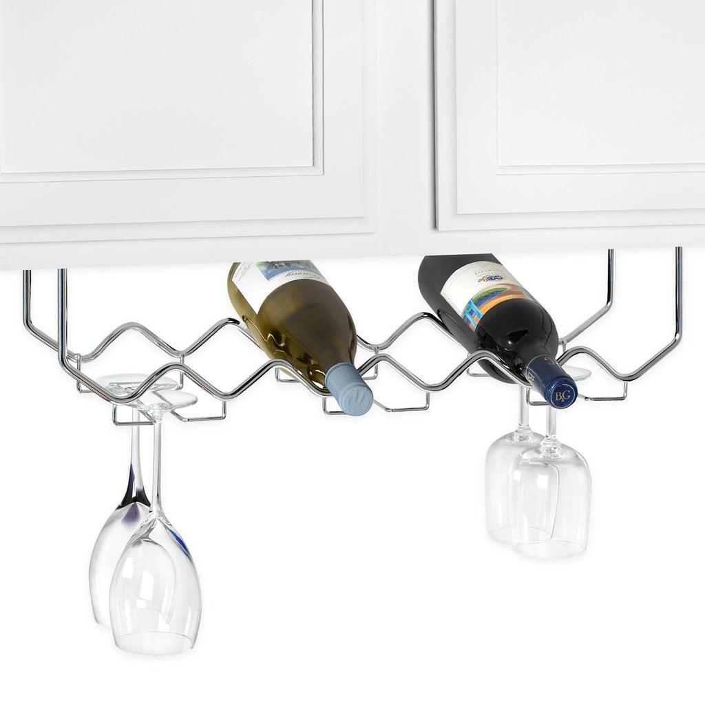 Under Counter Wine Rack With Stemware Holder