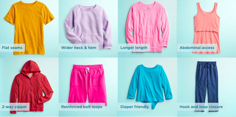Kohl's Adaptive and Sensory-Friendly Clothing Line