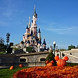 Many amusement parks decorate for Halloween.