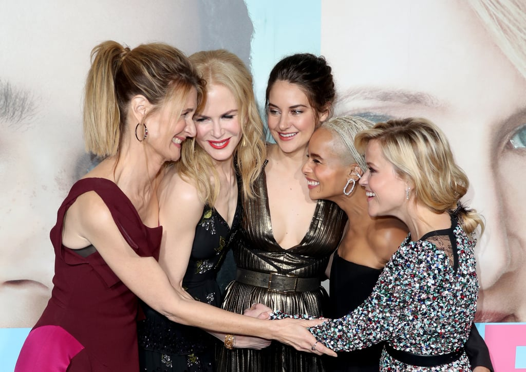We love seeing the women of Big Little Lies (Reese Witherspoon, Laura Dern, Nicole Kidman, Shailene Woodley, and Zoë Kravitz) stick together on the show, but their bond seems to be even stronger off screen. Whether they're cheering each other on at an award ceremony or giving sweet birthday shout-outs on Instagram, the ladies have made it pretty damn clear that there's nothing more powerful than women empowering other women. Today, we're celebrating their friendship with a look at their sweetest moments together.       Related:                                                                                                           Here's Everything We Know About the Tense Second Season of Big Little Lies