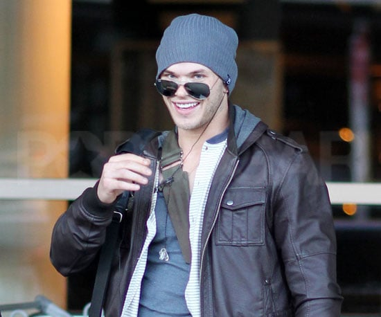 Slide Picture of Kellan Lutz Landing in Canada
