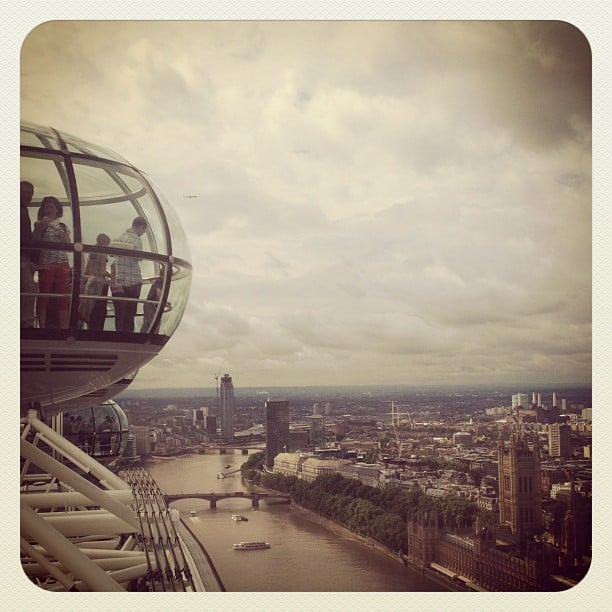McKayla Maroney shared a photo from the London Eye. Source: Instagram user mckaylamaroney