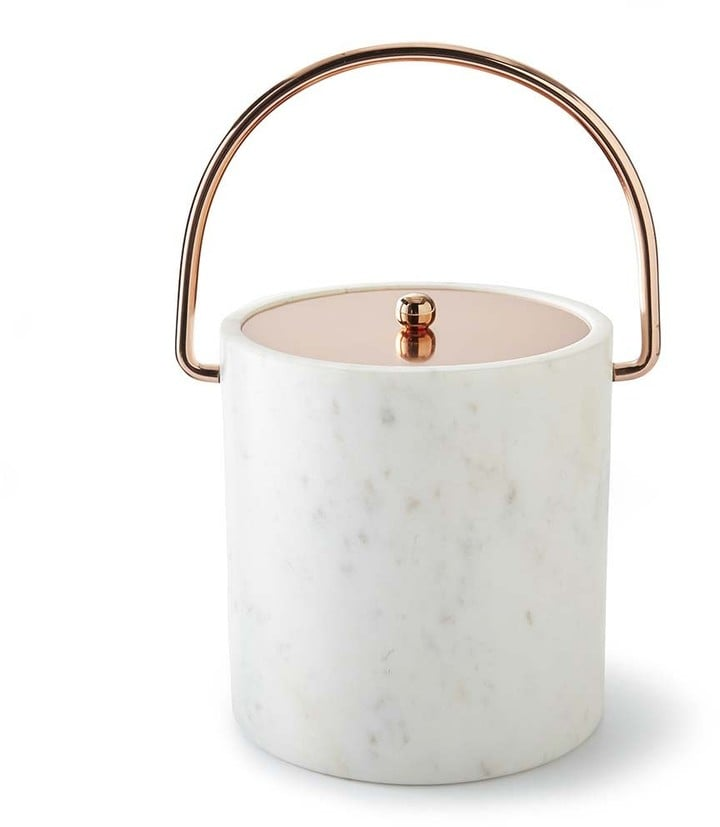 Marble & Copper Ice Bucket ($100)