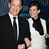 Julia and her Larry Crowne costar Tom Hanks smiled for the cameras at an awards ceremony in February.