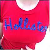 And so has a Hollister shirt.