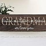 Rustic Wood Grandma Sign