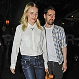 Kate Bosworth and Michael Polish dined at LA's Chateau Marmont.