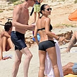 Jennifer Connelly and Paul Bettany at Beach in Spain 2016