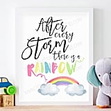 Rainbow Baby Nursery Wall Art