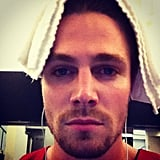 Stephen Amell struck a serious pose. Source: Instagram user stephenamell