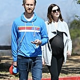 Double the Cuteness: Anne Hathaway Goes For a Hike With Her Dogs and Growing Baby Bump
