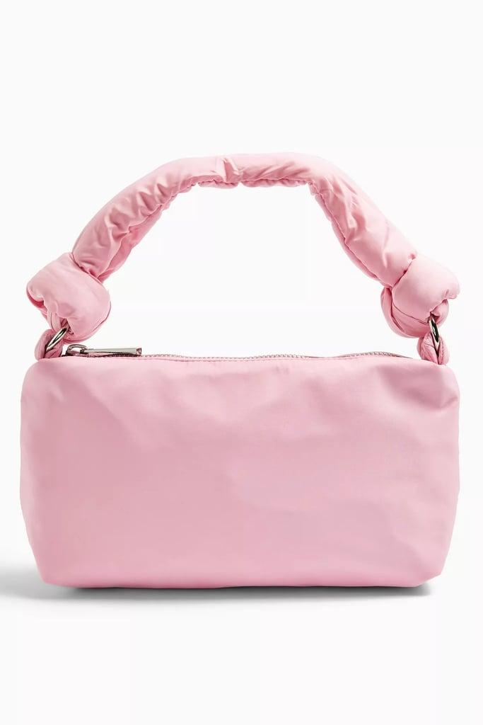 Topshop Knot Pink Nylon Shoulder Bag