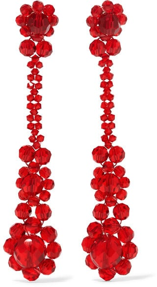 Simone Rocha's crystal earrings ($305) offer a new way to wear Spring florals.