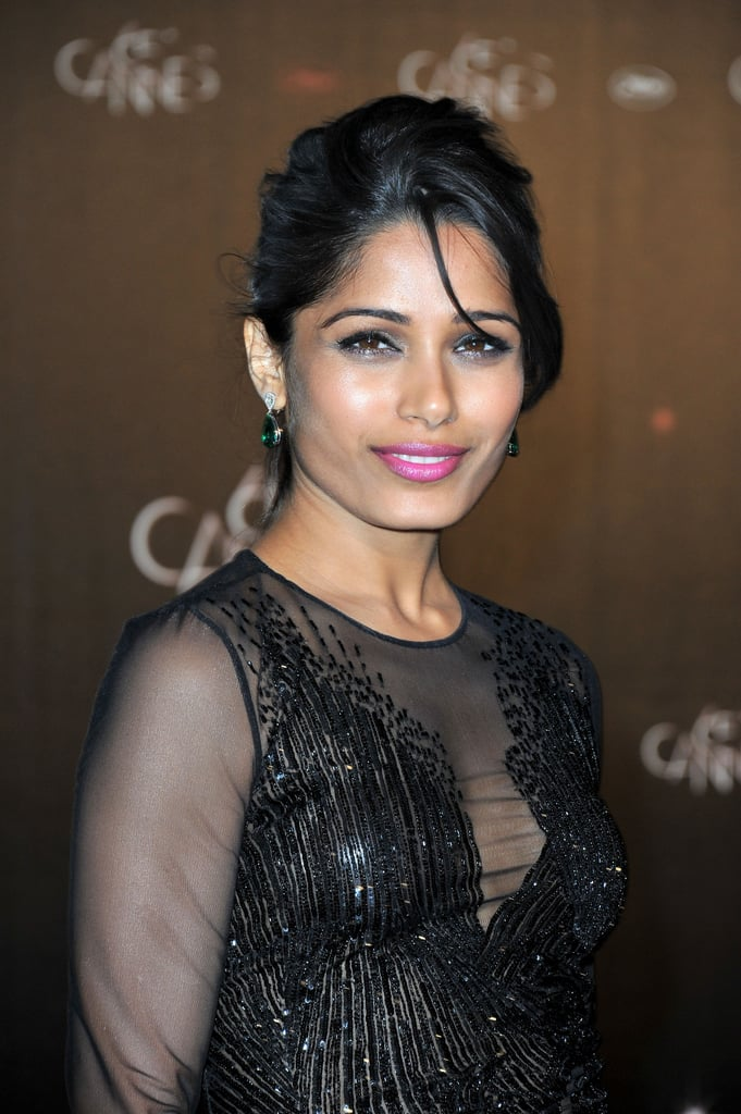 Freida Pinto looked glamorous at the opening night party at the Cannes Film Festival.