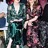 Karen Elson and Sofia Coppola at Anna Sui Fall 2019