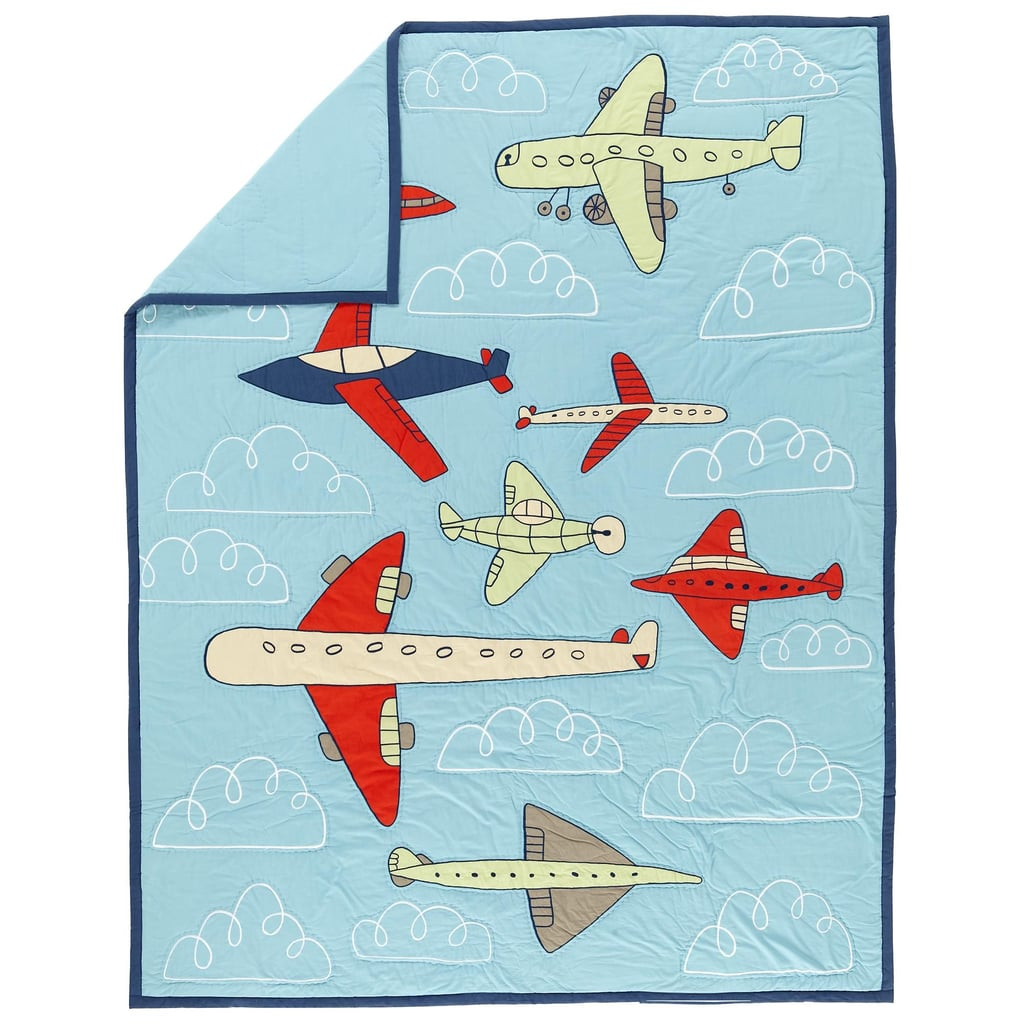 Airplane Crib Quilt ($99)