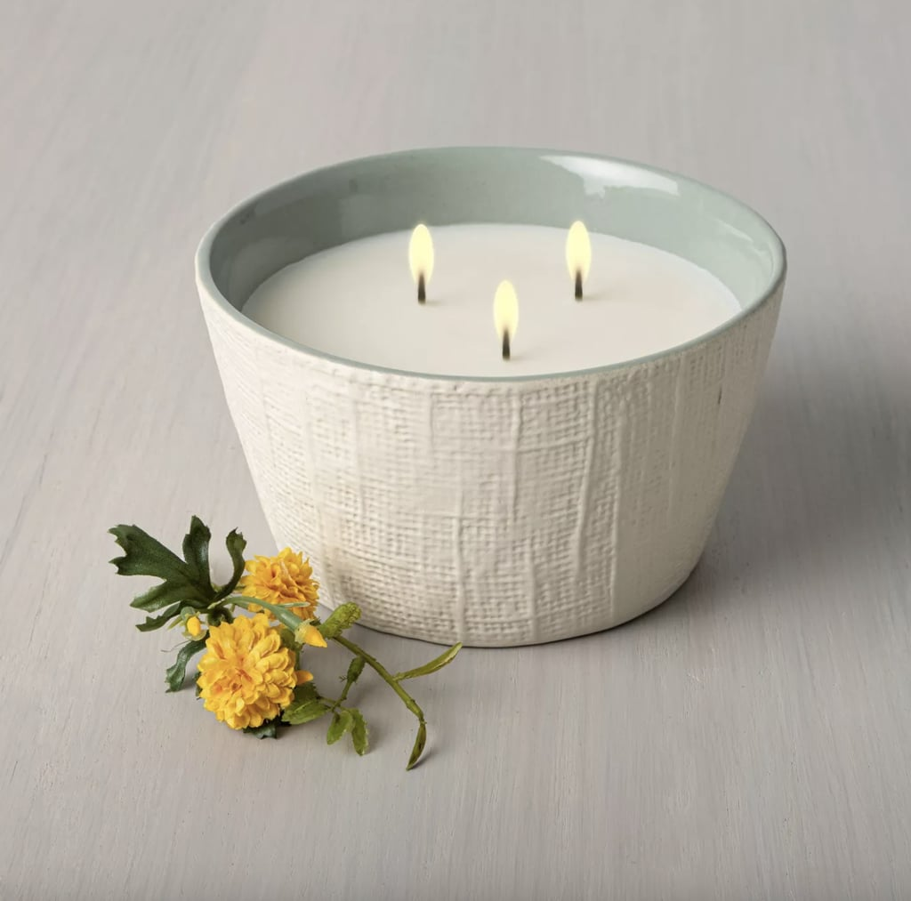 Meadow 3-Wick Large Textured Ceramic Candle
